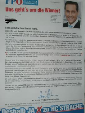 FPÖ Brief